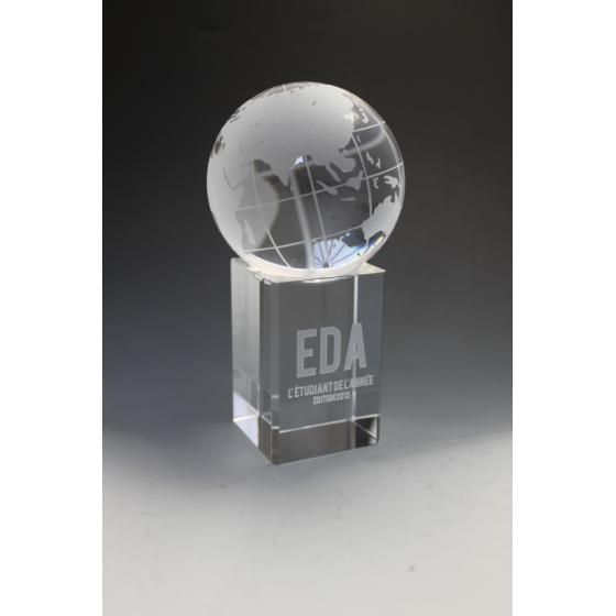 Trophée verre globe