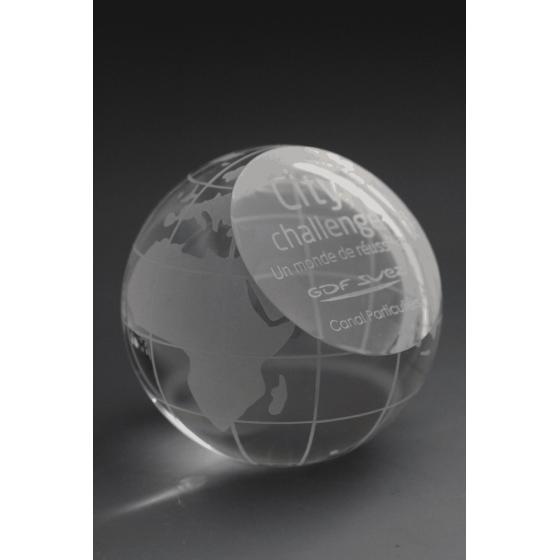 globe verre gravé tryje