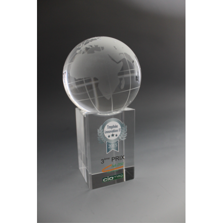 Trophée verre globe diamètre 8cm