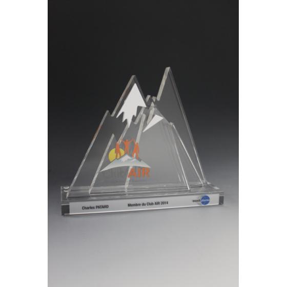 trophée verre sur-mesure