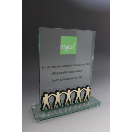 Trophée verre rectangle MGEN