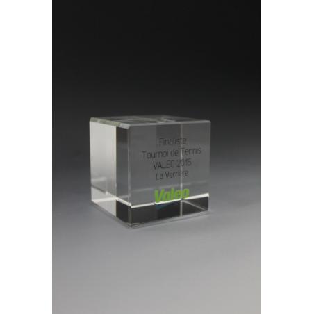 trophée cube en verre