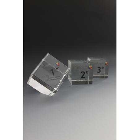 trophée verre cube