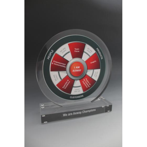 Trophée plexiglass rond