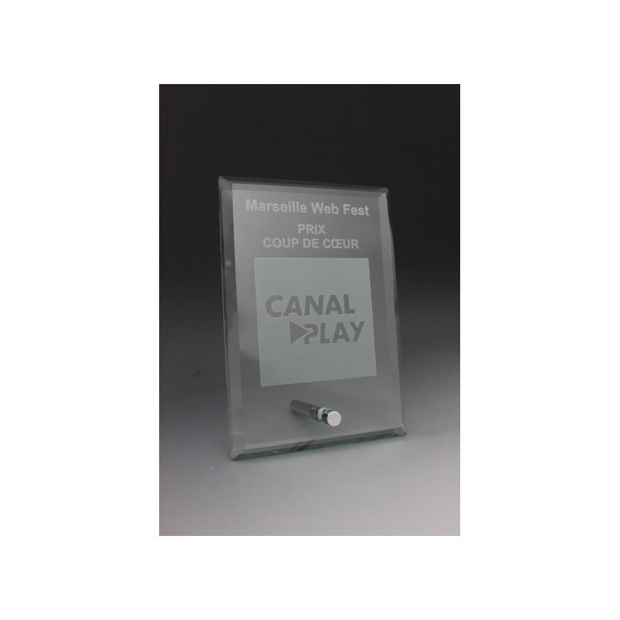 trophée verre CANALPLAY