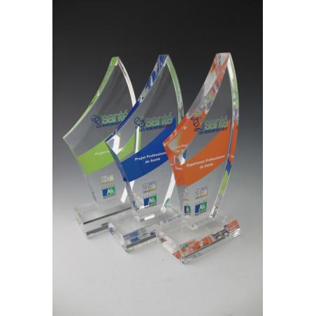 Trophée plexiglass sommet