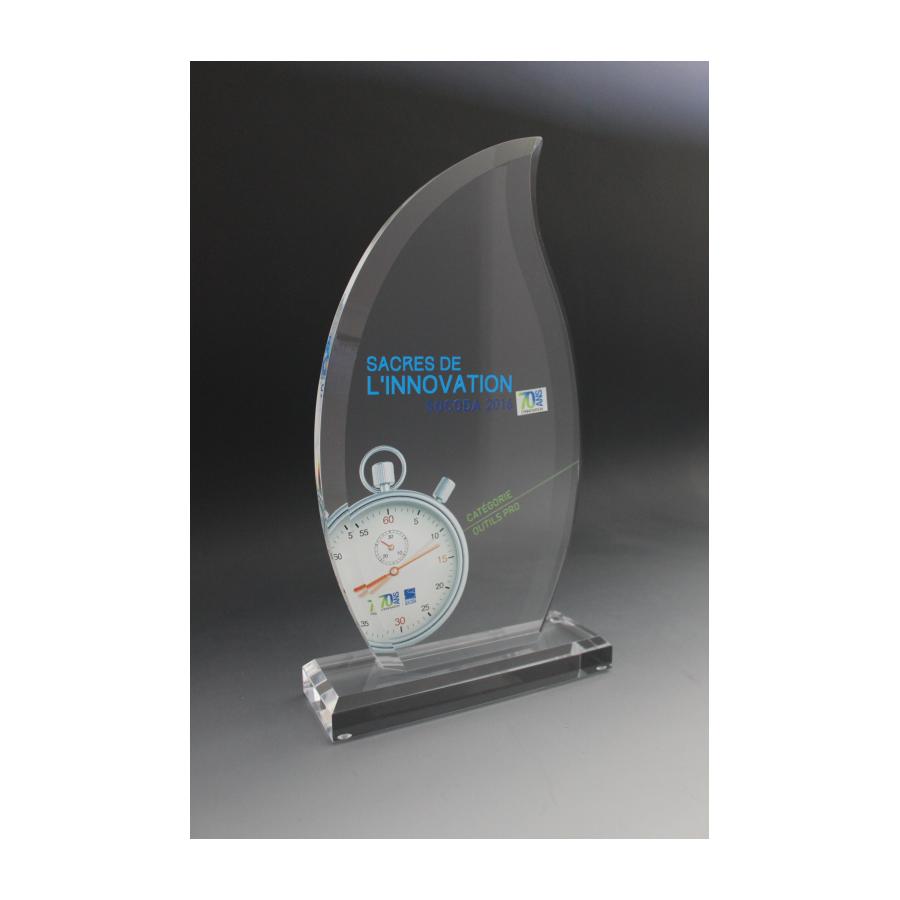 Trophée plexiglass flamme 2