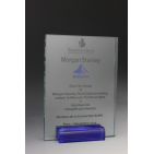 trophée verre bleu 7018