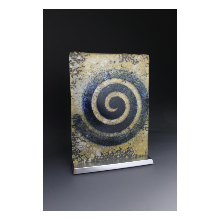 Sculpture en verre Spirale