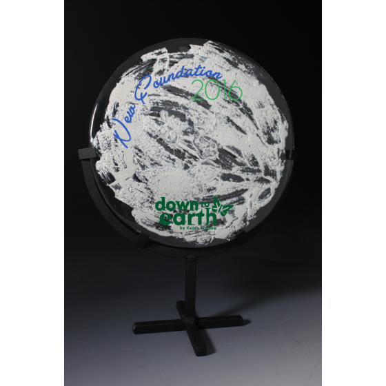 sculpture verre silver earth