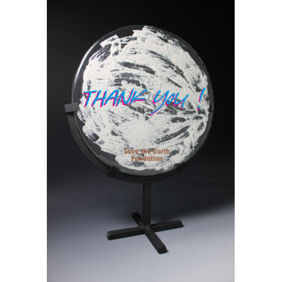 silver earth par Tryje sculpture 2