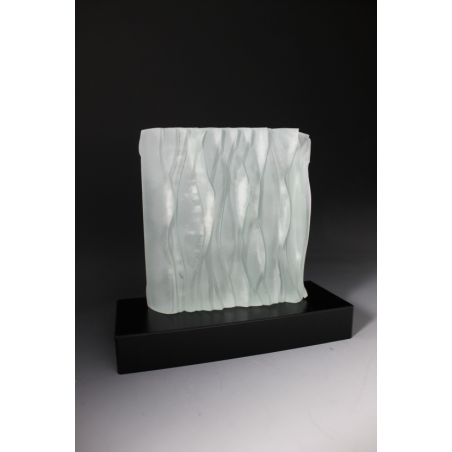 sculpture en verre décoration par tryje