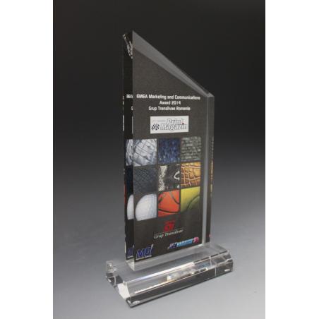 trophée plexiglass forme peak tryje