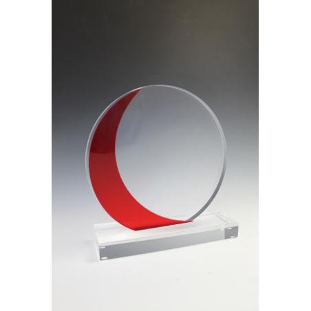Trophée plexiglass rond vague