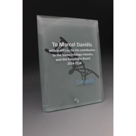 trophée en verre personnalisé 2