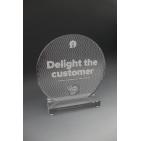trophée en plexiglass personnalisé