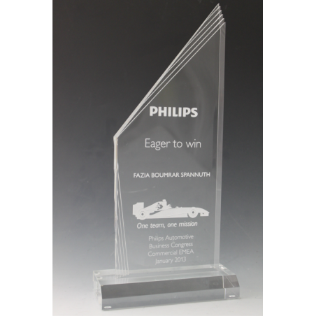 Trophée plexiglass peak multi