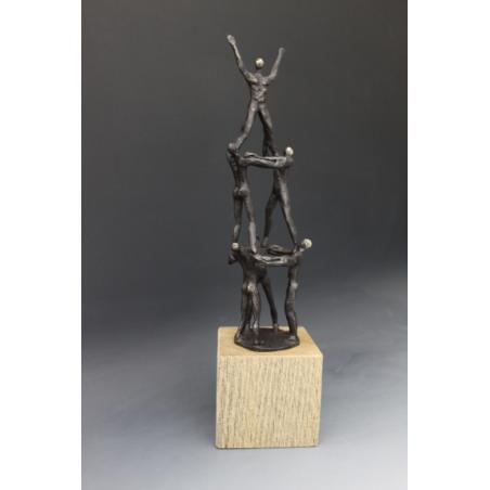 sculpture bronze TEAMWORK