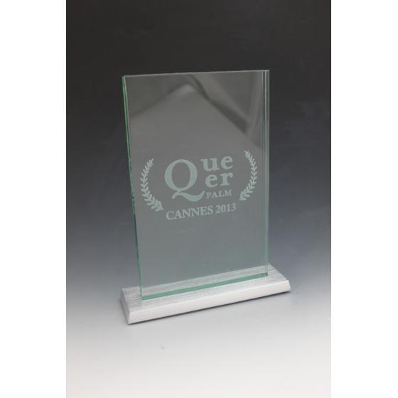 trophée rectangle base en métal