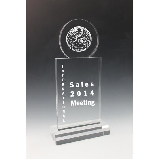 Trophée plexiglass totem
