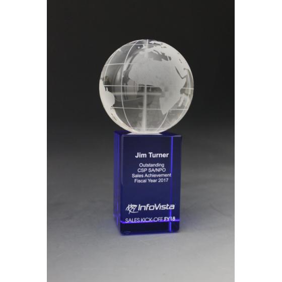 Trophée Globe Bleu