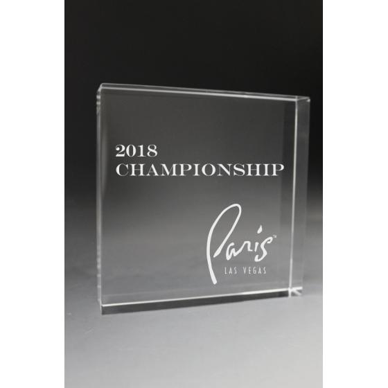 Trophée plexiglass Carré 30