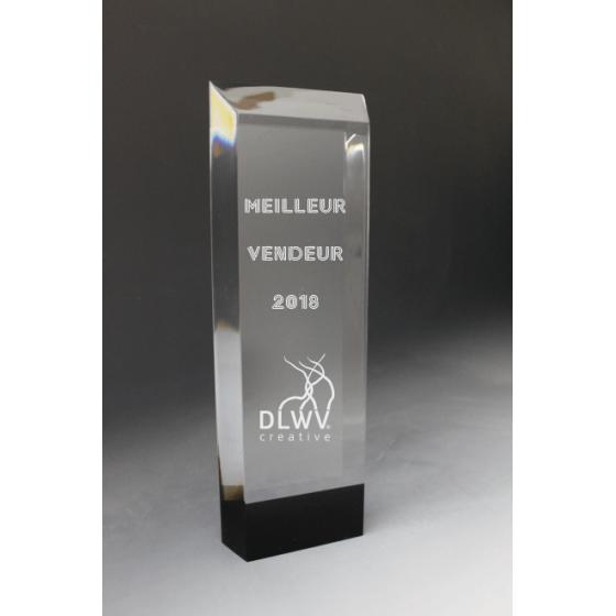 Trophée  plexiglass Colonne