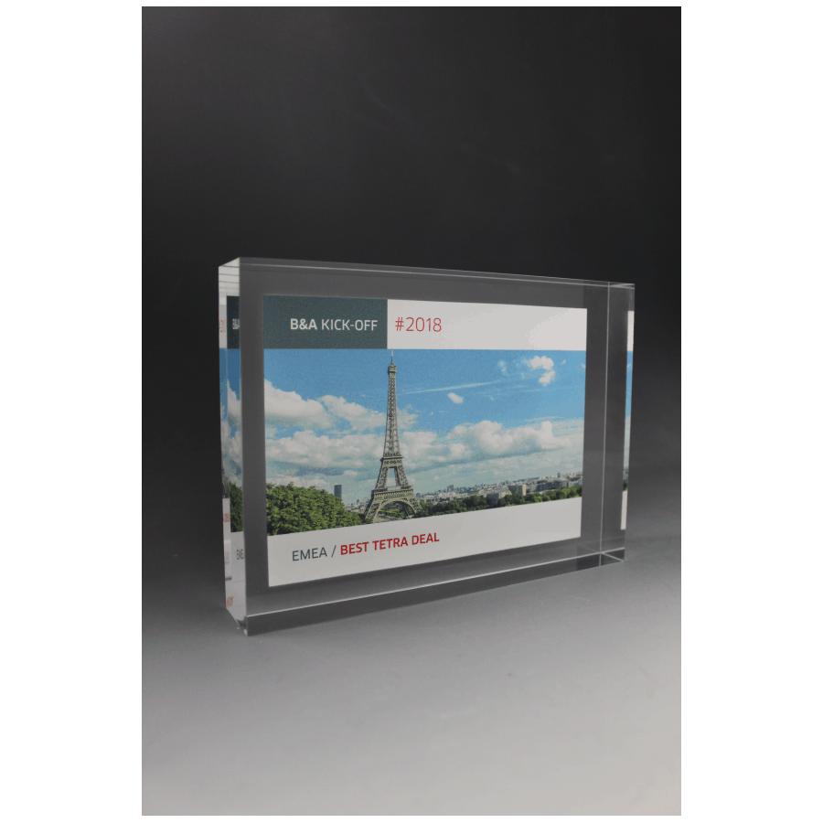 Trophée plexiglass Bloc GM