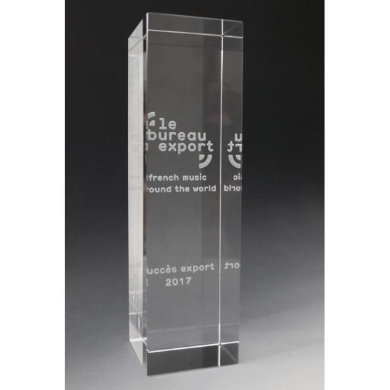 trophée verre bureau