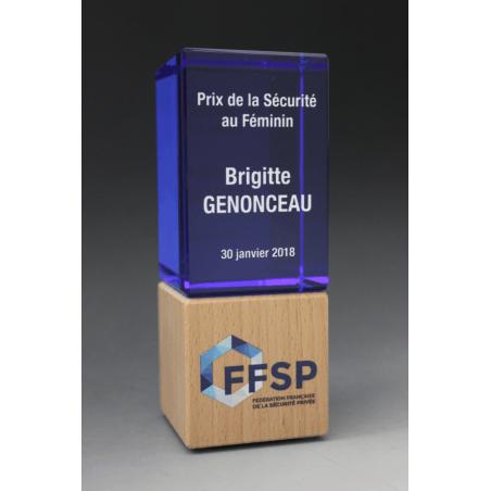 Trophée Bois Duo Bleu